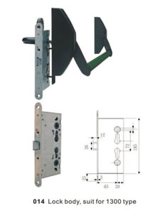 1300 Series Mortise Cylinder Panic Exit Device